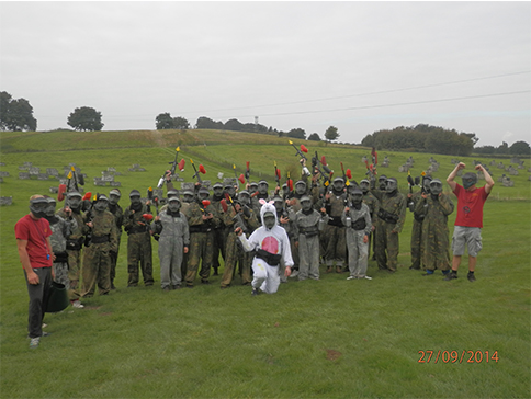 Easter Paintballing