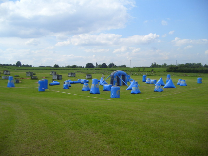 Paintball inflatable Course