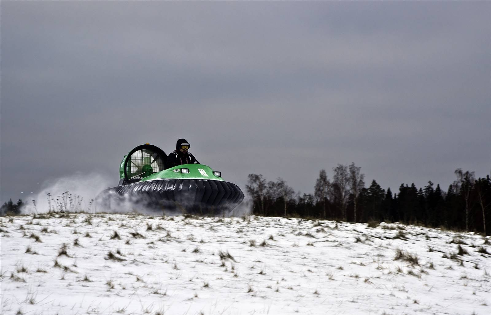 Hovercraft in the Snow